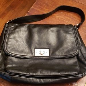 Kate Spade Blk Leather Bag